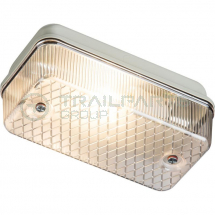 Weatherproof bulkhead lamp rectangular 100W IP65 E27