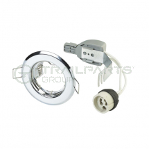 GU10 fixed downlight kit polished chrome