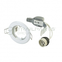 GU10 fixed downlight kit white