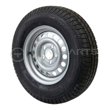 Wheel and tyre assembly 175 R13C 5 x 112mm 66.5 bore 30ET