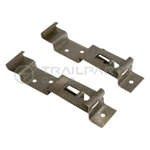 Number plate clips spring- loaded rectangular type (pair)