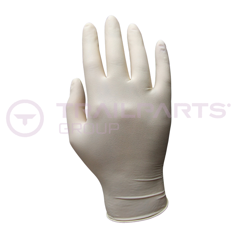 Latex disposable gloves Medium (x 100)