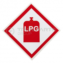 Hazard warning diamond sticker LPG 100 x 100mm*