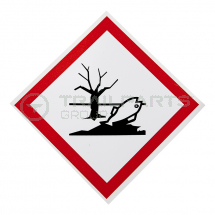 Hazard warning diamond sticker COSHH environment 100 x 100mm