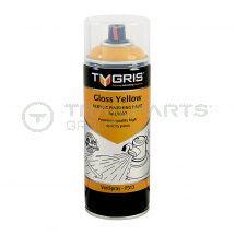 Gloss yellow RAL1007 acrylic paint aerosol 400ml