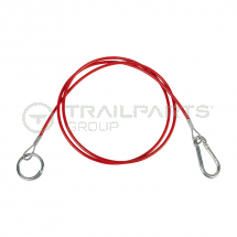 Breakaway cable red coated heavy duty 1.8m long