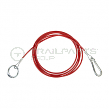 Breakaway cable red coated heavy duty 2.5m long
