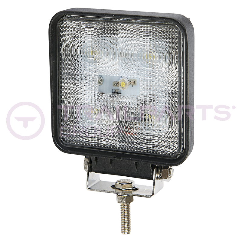 LED work lamp single bolt 10-30V square 800 lumens