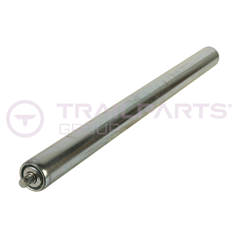 Pipe coil trailer adjustable end roller for 90 trailer