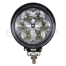 LED work lamp single bolt 10-80V 100mm round 1300 lumens