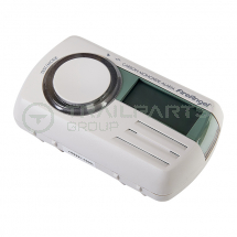 Battery carbon monoxide alarm digital display