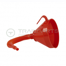 Funnel with flexible spout