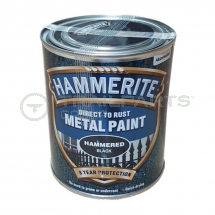 Metal hammer finish paint black gloss 750ml