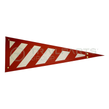 Wide Load wrap around side projection marker red/white RH