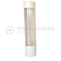 Wall mounted plastic cup dispenser