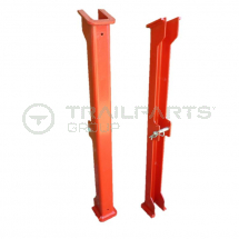 Safety prop for hydraulic rams (pair) painted red