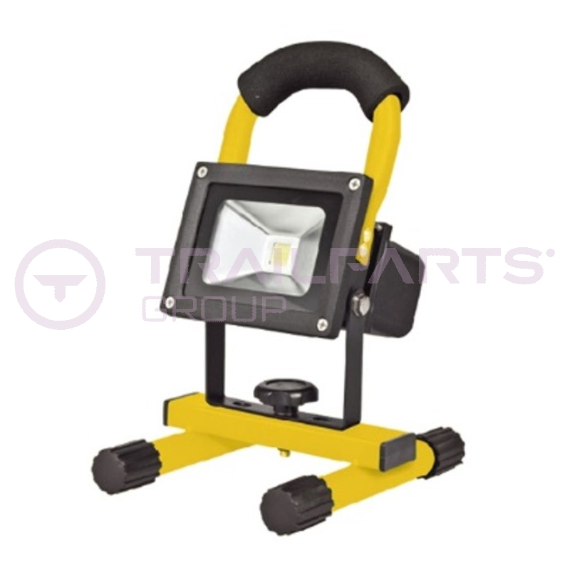 Rechargeable LED 240/12V mini flood light c/w stand