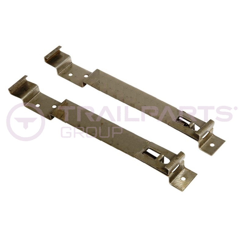 Number plate clips spring- loaded for square number plate