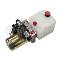 12V Hydraulic power pack - 4lt reservoir to suit Boss Cabins