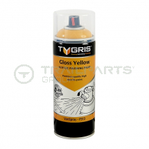 Gloss JCB yellow RAL1028 acrylic paint aerosol 400ml