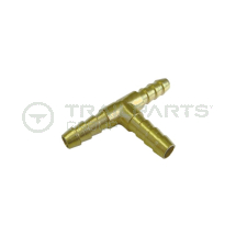 Fuel hose T piece connector brass 6mm 3 way joiner