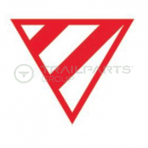 Wide load projection warning triangle 610mm magnetic