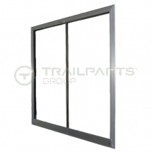 AJC aluminium canteen window 840x840mm single glazed
