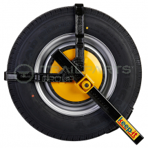Wheel clamp Sold Secure for 165/195 x 12inch/15inch wheels