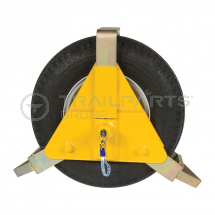Triangular wheel clamp for 10inch - 14inch wheels