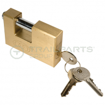 Shutter lock brass 60mm - keyed alike