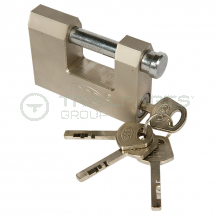 Stainless steel block lock 80mm