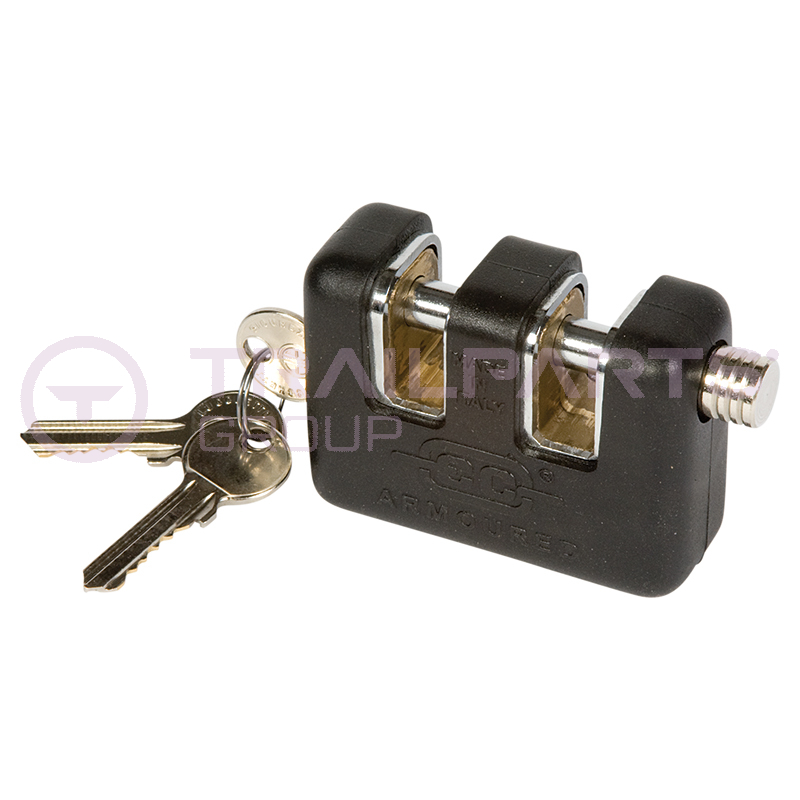 Armoured double slot lock 80mm