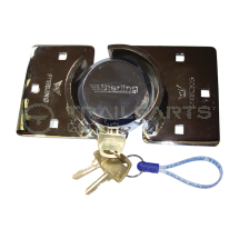 Van door lock c/w shrouded hasp and padlock