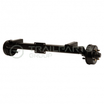 M & E complete replacement axle assembly for torsion axle
