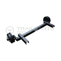 Axle 750kg for Atlas Copco XAS67 4x100mm PCD 775mm fixctr