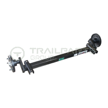 Axle for Terex MBR roller breaker trailer c/w SFL brngs