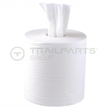 Centrefeed roll recycled white 150m 2 ply (pack of 6)