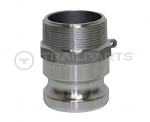 Cam coupler aluminium F125 1.25inch male thread/1.25inch male