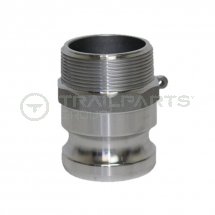 Cam coupler aluminium F100 1inch male thread/1inch male