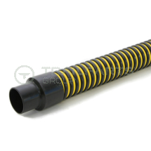 Yellow/black super flexible suction hose 2inch c/w cuffs 7.6m