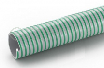 Green/grey flexible PVC smooth rib suction hose 2.5inch/63mm