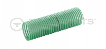 Green ribbed 1 1/4inch 32mm light duty superflexi suction hose