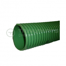 Green ribbed 5inch/127mm medium duty suction hose