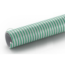 Green/grey flexible PVC smooth rib suction hose 2inch/50mm