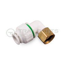 Push fit bent tap connector 15mm x 1/2inch