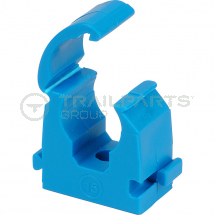 Talon hinge top pipe clips 25mm MDPE blue (x20)