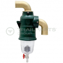 MZ siphon separator 90 deg top inlet 45mm with drain off