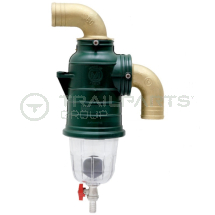 MZ siphon separator 90 deg top inlet 75mm with drain off