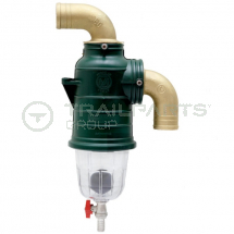 MZ siphon separator 90 deg top inlet 80mm with drain off