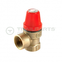 Pressure release valve brass adjustable 1 to 3 bar F/F 1/2inch